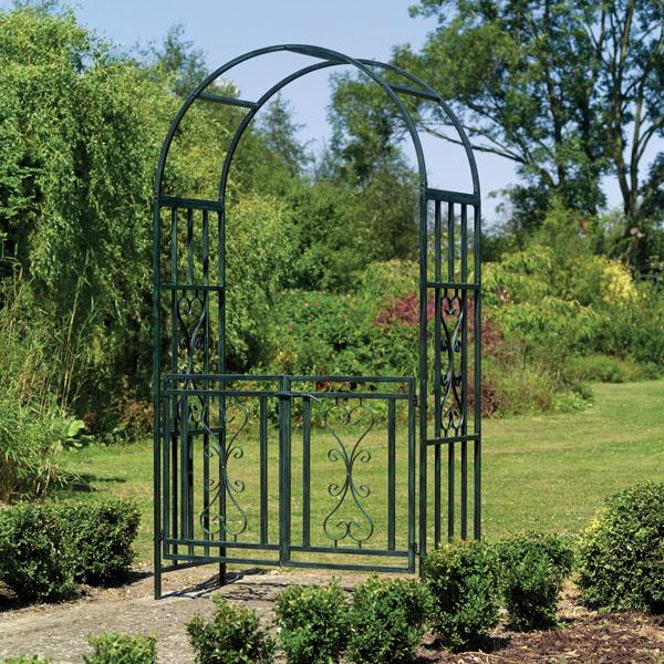 Garden arch gate photograph kensington metal garden arch w - Pergolas de metal para jardin ...