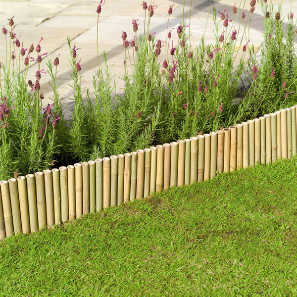 Uk garden supplies 6 bamboo lawn edging for Garden products catalog