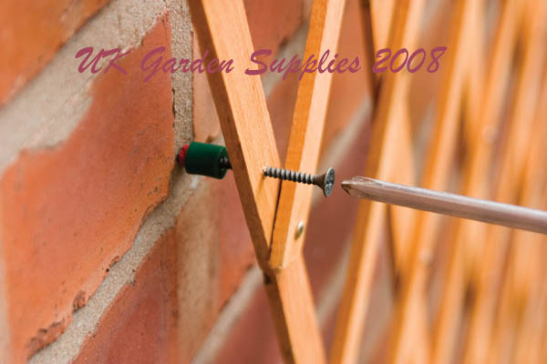 Uk garden supplies trellis fixing kit for Garden products catalog