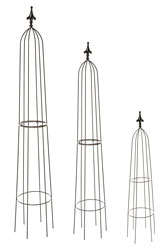 Metal Garden Obelisks