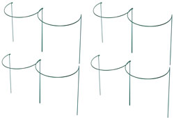 Set of 8 x 60cm x 45cm Large Green Metal Plant Support Hoops
