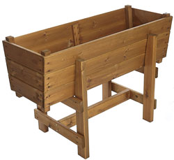 Extra Deep Large Raised Wooden Planter