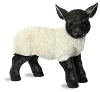 Large Suffolk Lamb Ornament
