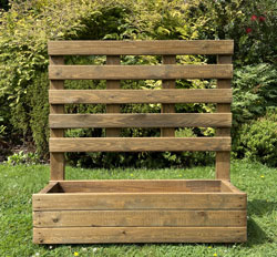 Wooden Planter with Trellis - Extra Large