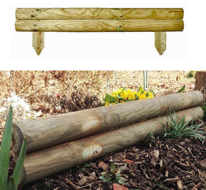 Log Roll Garden Edging