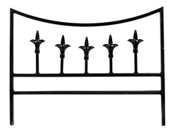 Heavy Duty Baroque Metal Garden Border Edging