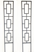 Pack of 2 x Metal Garden Plant Pot Trellises