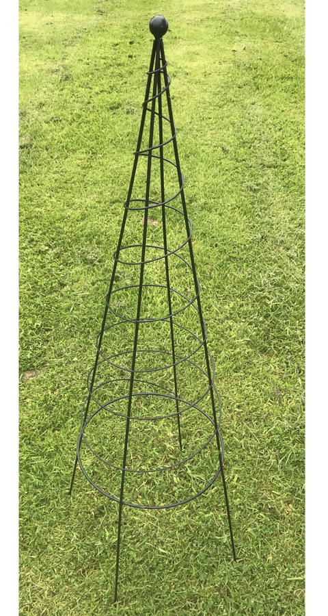 Uk Garden Supplies Metal Pot Obelisk