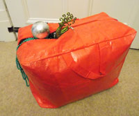 Xmas Tree Decorations Bag Red