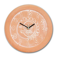 Charmant Outdoor Clocks And Thermometer. Terracotta Garden Clock   Moon And Sun