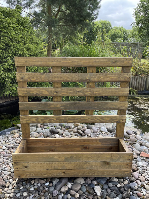 Uk Garden Supplies Wooden Planter With Trellis Large