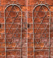 Twin Pack of Vintage Style Garden Wall Trellises