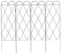 Arched Lattice Garden Folding Trellis 140cm wide